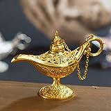 Gaocunh Aladdin lámpara, Legend Magic Genie Light Classic Home Office Table Ornament Decoración Vintage, Accesorio de Disfraces de Aladdin.