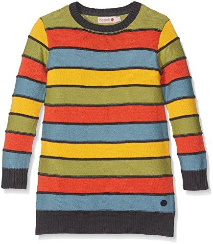 Bóboli Mädchen Kleid Knitwear Dress For Girl , Mehrfarbig (Paprika 3546), 140