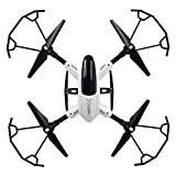 Ashey Drone GPS, WiFi cámara 4CH 6-Axis Gyro RC Quadcopter Aviones no tripulados, UAV RTF UFO para Adultos de Retorno automático Función Follow Me Home con Plegable portátil Aviones no tripulados