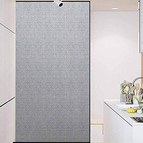 wonderr Stained Glass Window Film, Celtic Authentic Celtic Figures Floral and Geometric P, Living Room Bedroom Kitchen Lobby Porch Office, 35.4' Wx78.7' Linches