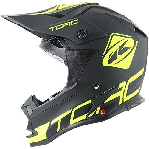ZHXH Motocross Helm Herren Erwachsene Four Seasons Abnehmbares Futter und Sonnenschutz Atv Integral Helm/Punkt genehmigt,