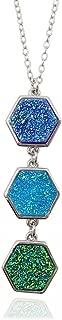 Lii Ji Natural Stone Rainbow Druzy Pendant Necklace 18-20