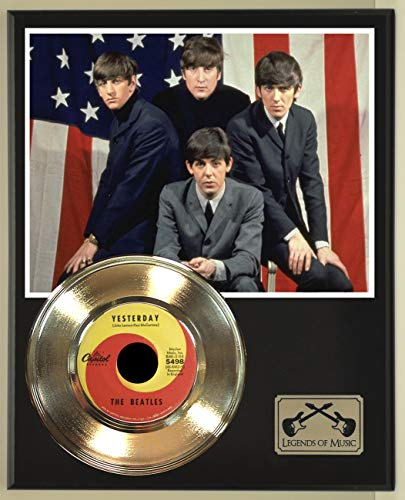 Beatles Yesterday record display wood plaque