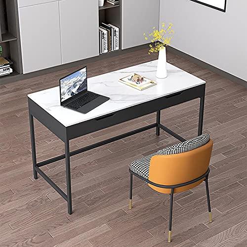 SWTOM Oficina en casa Escritorio de Estudio de Escritura Mesa de Ordenador Portátil Esquina de Ordenador Diseño de Ahorro de Espacio Resistente Cajón de Almacenamiento Marco Estable Dormitorio