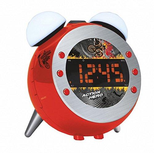 Soundmaster UR140RO UKW Uhrenradio, Projektion, dimmbares Nacht-, Aufwachlicht