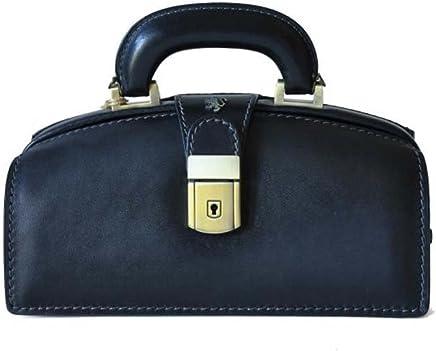 Pratesi Signora Italian Aged Leather Briefcase Style Handbag c540f98911fe6