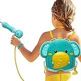 Juguetes de tiro de agua de elefante - Lanzador de agua con tanque de mochila de alta capacidad - Disparo de pistola de agua de 20 pies - para actividades de juego de lucha de agua al aire libre