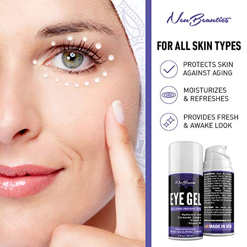 51rlv2jbjWL - Micro-Sculpting Anti-Aging Eye Gel - Natural & Made in USA - Under Eye Cream for Dark Circles and Puffiness - Anti-Wrinkle & Fine Line Reduction Effect - Rich Wrinkle Cream for Puffy Eyes & Eye Bags