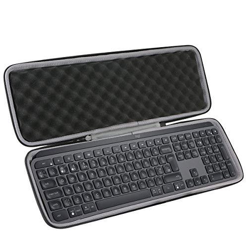 co2CREA Harte reiseschutzhülle Etui Tasche für Logitech MX Keys - Fortschrittliche Kabellose Tastatur