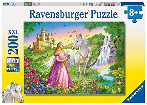 Princess with White Horse and Castle 200 Piece Puzzle by Ravensburger: Ages 8 And Up