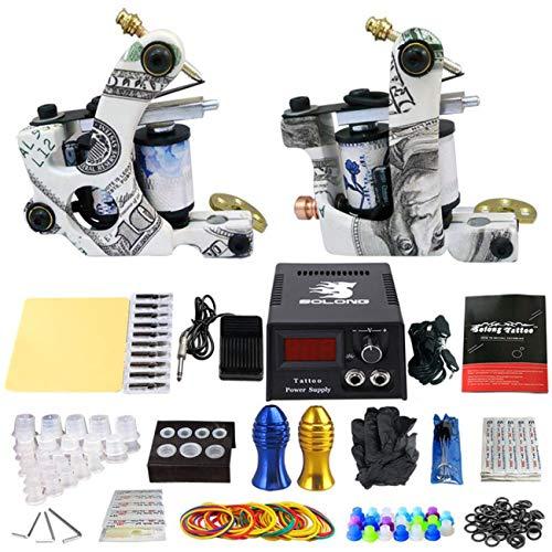 CN-WSC Bobina Maquina Kit de Tatuaje Profesional Ametralladora de Tatuaje Fuente de Alimentacion Pedal máquina de Tatuaje Tattoo Supplies