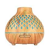 HINK Difusor de Aroma de Apagado automático, difusor de Aceite Esencial de 400 ml con pequeños electrodomésticos D para el hogar y el jardín en Forma de Diamante