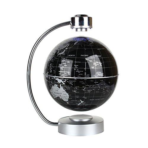 Zjchao Magnetische Weltkarte, schwimmend, 8 Globus, Globus mit LED, 24 Standfuß – Geografie, Lernspielzeug, Geschenke für Kinder
