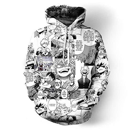 LIDDMEIO Combat Hero Anime Hoodie Divertido Cool Hip Hop Streetwear Unisex Negro Blanco Jerseys Angry -9_