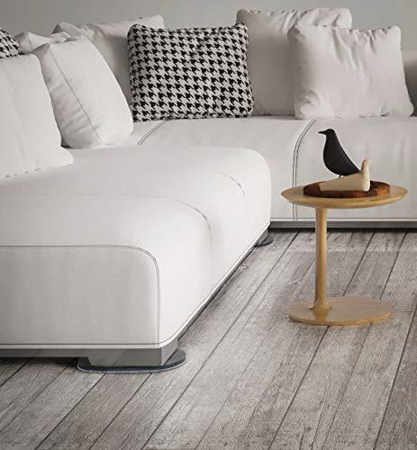 "SuperSliders 4746595N Reusable XL Heavy Furniture Sliders for Hardwood Floors- Felt Floor Protectors, 9-1/2"" x 5-3/4"", Gray (4 Pack) Maryland"