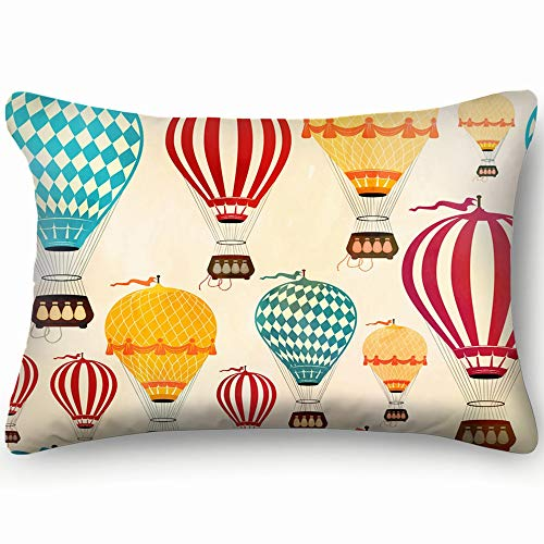 best & air Balloon Abstract air Abstract air Skin Cool Super Soft and Luxury Pillow Cases Covers Sofa Bed Throw Pillow Cover with Envelope Closure 2030 inch