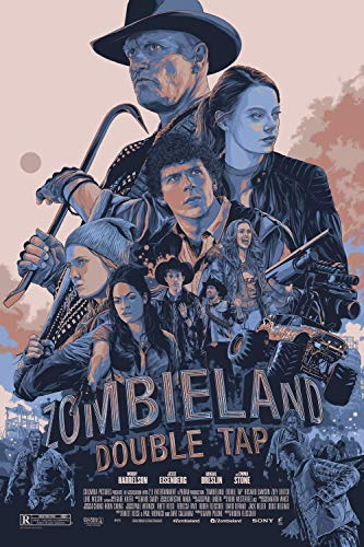 prindesign Zombieland Double Tap - Movie Poster Wall Decor Filmplakat - 45 X 70 cm
