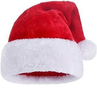 KFZR Gorro navideño Papá Noel Sombreros Engrosados Cálido Suave Adulto Unisex 12.2 * 19.6 Pulgadas (W * H)