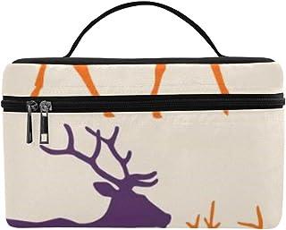 fbd2caf9fa Puissant Cerf Sauvage Grande Capacité Taille Dame Sac Cosmétique Maquillage  Organisateur Boîte À Lunch Train Trousse