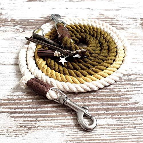 Hundeleine *Holi* Kamu Flash – Boho-Stil – Leine für Hunde – 100% Handmade & Unique – Tauwerk aus 100% reiner Baumwolle