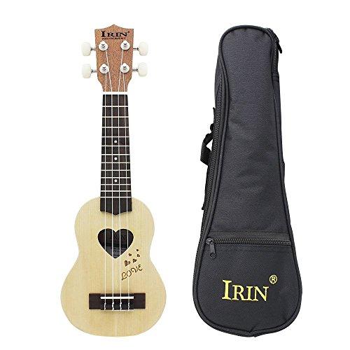 Andoer 17 inch Mini Ukelele Ukulele Fretboard Stringed Instrument 4 Strings with Gig Bag (17 inch-#1)