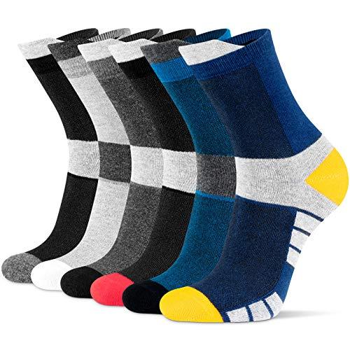 Newdora Socken Herren, 6 Paar Sneaker Socken Unisex Atmungsaktiv Baumwoll Socken für Sport Freizeit Lauf Outdoor Business Arbeits, 43-46