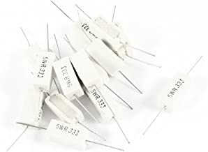 Uxcell a14051000ux0174 15 Piece 5W 0.33 Ohm 5% Ceramic Cement Power Resistor, White