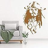 Geiqianjiumai Capitaine Pirate Tête Frais Affiche Vinyle Peinture Murale Autocollant...