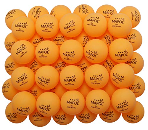 MAPOL 60 Counts 3-Star Orange 40+ Premium Training Ping Pong Balls Advanced Practice Table Tennis Ball