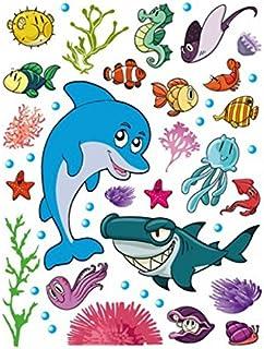 1art1 Kinderwelten - Meerestiere, Delfin, Hai, Seepferdchen,