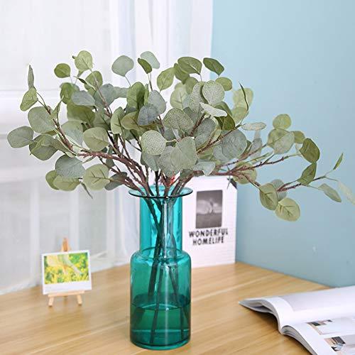 display08 - 1 Planta Artificial de eucalipto, Verde, decoración de Boda, para Ramo de Novia
