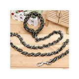 ANAZOZ Laisse Chien Nylon Chain Woven Chain-Armée Verte L