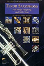 Tenor Saxophone Full Range Fingering and Trill Chart (Foundations For Superior Performance)