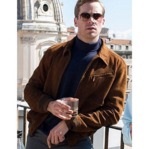 New York Armie Hammer Men Suede Leather Jacket (XXL)