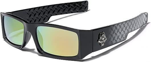 Locs Men Original Gangsta Shades Black Rectangle Frame Dark Mirrored Lens Hater Blockers Sunglasses