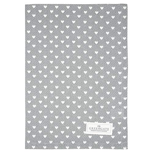 GreenGate - Geschirrtuch, Küchentuch, Trockentuch - Penny - Baumwolle - grau - 50 x 70 cm
