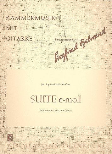 Suite e-Moll: für Flöte und Gitarre Spielpartitur