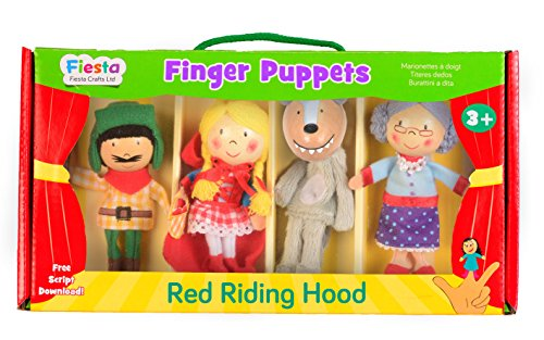 Fiesta Crafts T-2376 - Fingerpuppensatz Rotkäppchen, 4 Stück