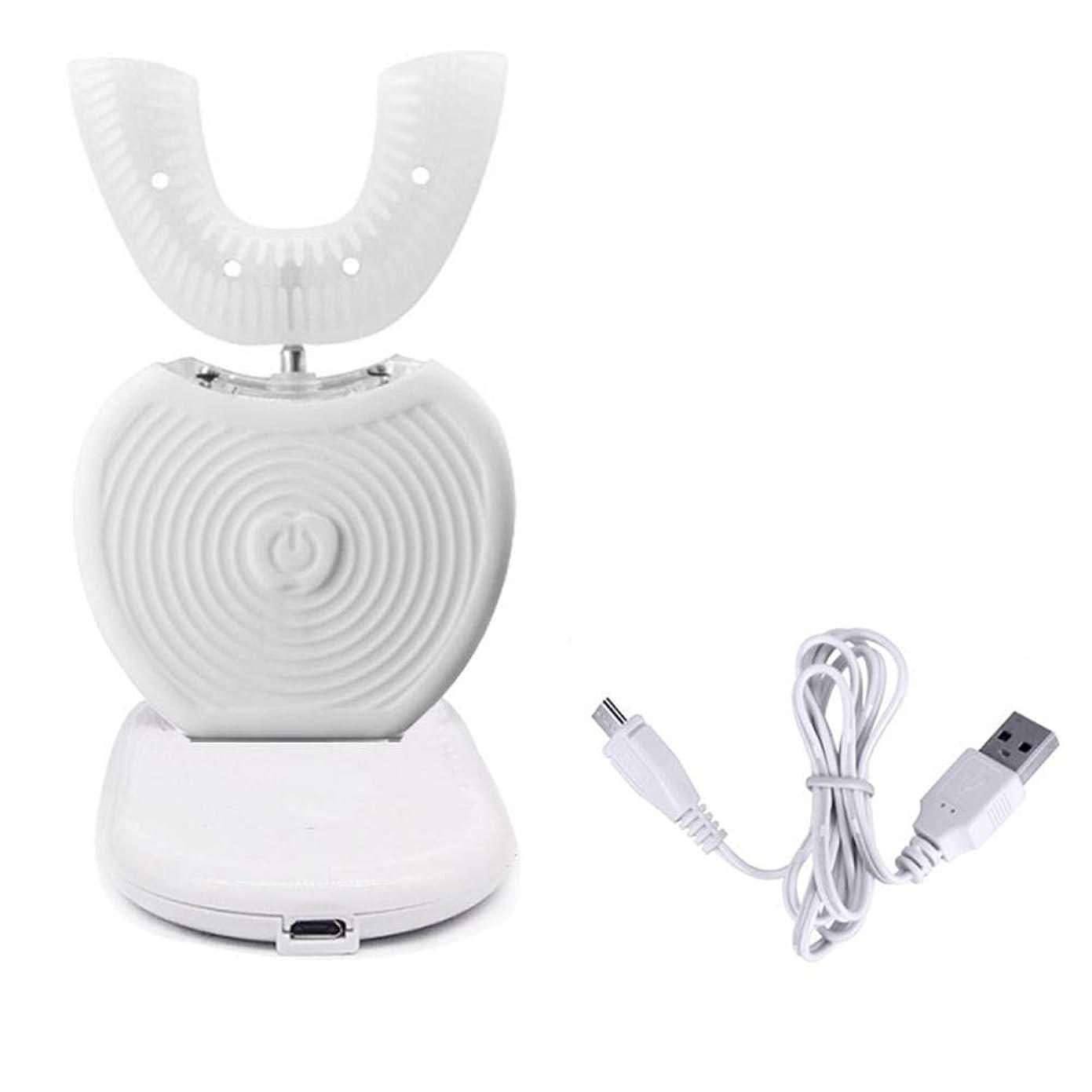 オズワルド放置メンダシティLcxghs LEDライトが付いているキットを白くするUSB??の携帯用理性的な360°電気音波の歯ブラシの歯。