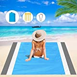 Mumu Sugar Sand Free Beach Blanket, Extra Large Outdoor Picnic Blanket Waterproof Sand Proof Beach Mat for Travel, Camping, Hiking and Music Festivals
