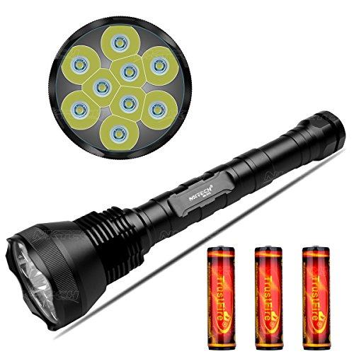 NKTECH NK-9T6 9X T6 LED 11000 lúmenes 5 modos linterna táctica linterna...