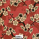 (226) Two Individual Paper Luncheon Decoupage Napkins - Asian Cherry Blossoms