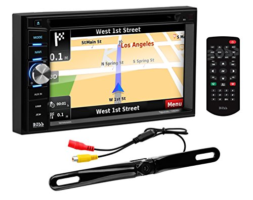 Price comparison product image BOSS Audio Systems BN965BLC Car GPS Navigation and DVD Player - Double Din,  Bluetooth Audio and Calling,  6.5 Inch LCD Touchscreen Monitor,  MP3 CD DVD USB SD,  Aux-in,  AM FM Radio Receiver
