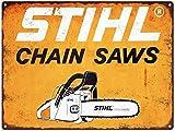 JTY store Vintage Wandkunst Dekor Zeichen Stihl Chain Saws