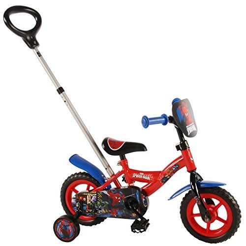 Compatible avec Vélo Disney Spiderman 10 Pouces avec Canne parentale