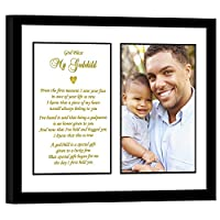 Godchild Gift from Godfather for a Baptism, Birthday or Christmas - Add Photo by Poetry Gifts