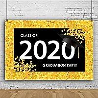 Zhyポリエステル生地クラス2020卒業背景7x5ftお祝い卒業写真背景卒業写真卒業パーティーの装飾卒業日のイベント装飾ビデオ小道具