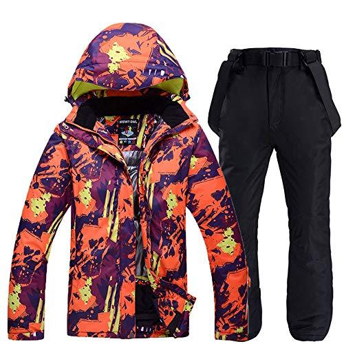 PMZZPLVDS Skiën Suits Mannen En Vrouwen Sneeuw Mountain Kleding Outdoor Sport Snowboarden Waterdichte Winddichte Winter Ski Suit Sets Jas En Bib Pant