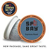 SF Bay Coffee Espresso Roast 80 Ct Dark Roast Compostable Coffee Pods, K Cup Compatible including...
