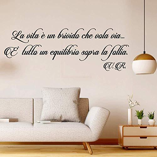Adesivi Murali Frasi la Vita è un brivido che vola via citazione wallstickers frase Adesivi da Muro Wall Sticker follia decorazione interni da parete casa scritte adesive per pareti in italiano